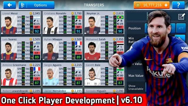 Dream League Soccer 2019 Mega MOD Apk v6.10(One Click Player Development + All Players Unlocked)