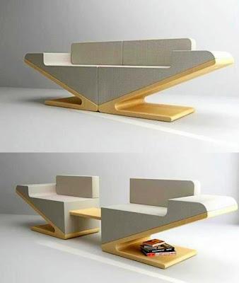 Rekaan Moden Kerusi & Meja yang Kreatif - kerusi terbelah