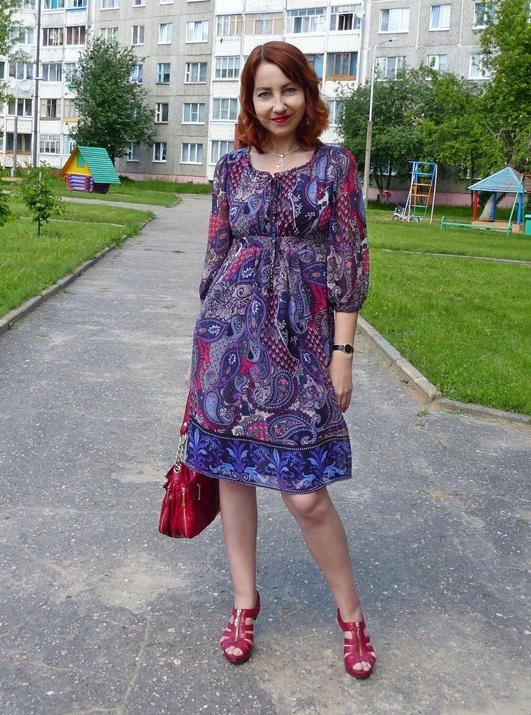 Local Fashion: Paisley Print Dress