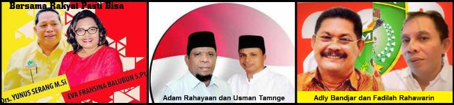 Tiga pasang calon walikota dan wakil walikota Tual 2018