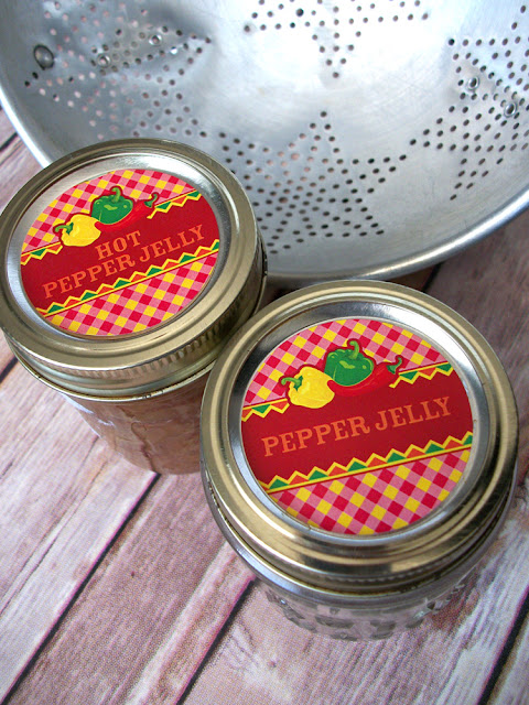 Fiesta Hot Pepper Jelly Canning Jar Labels