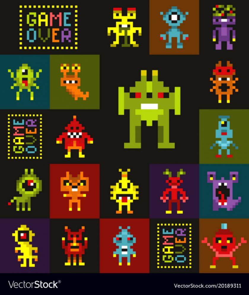Pixel Art New Year Wallpaper Bronze Wallpapers