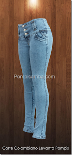 Jeans pompisarriba 2017 corte colombiano barato Tiendas de pantalones