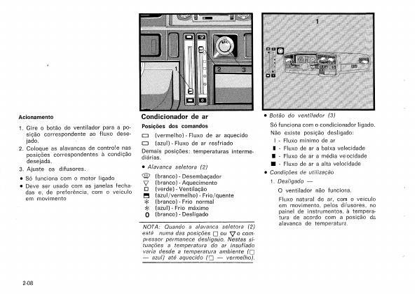 MANUAIS DO PROPRIETÁRIO: MANUAL DO MONZA 1988