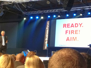 Tom Peters at Nordic Business Forum. Ready. Fire! Aim