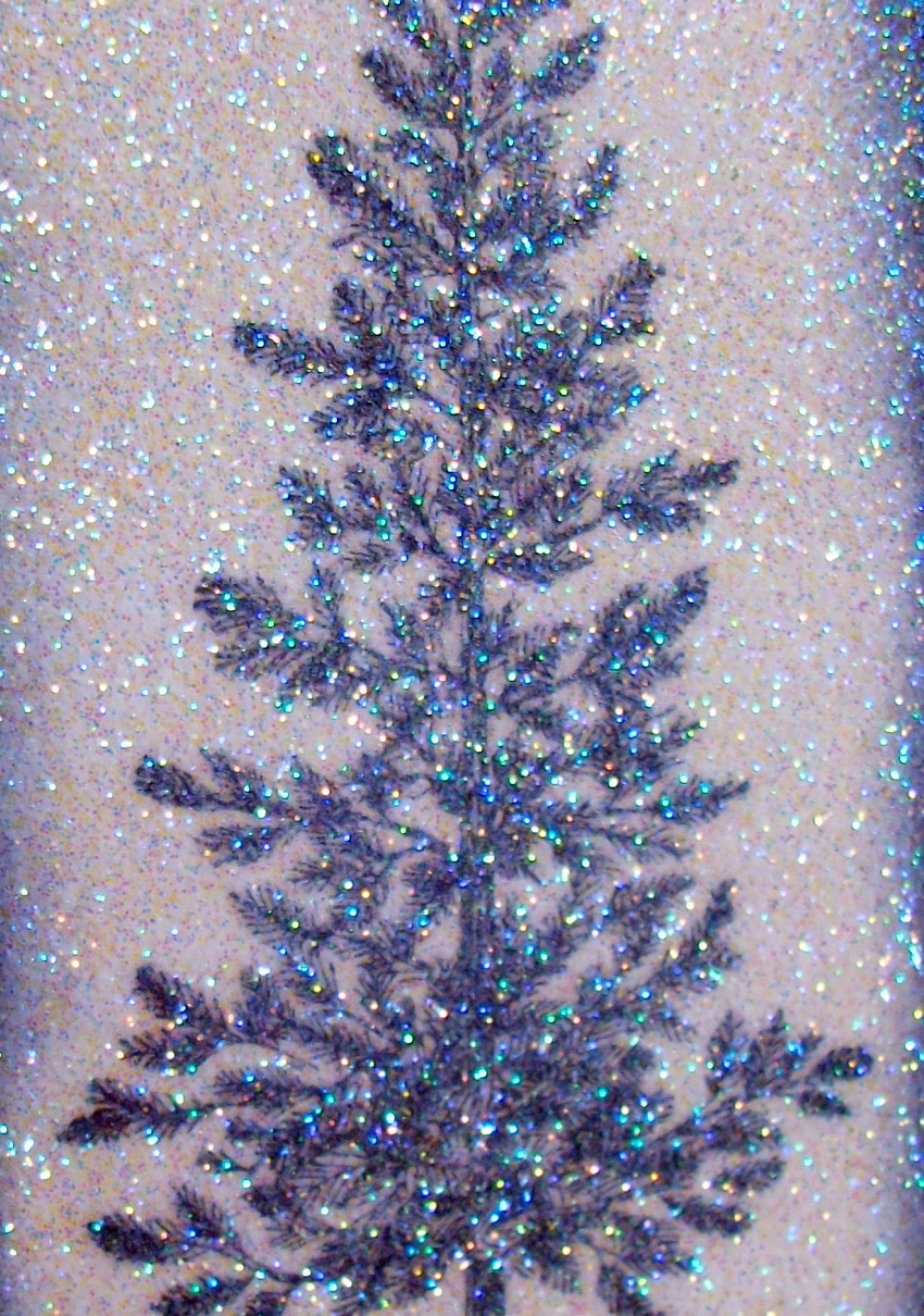 Flower sparkle sparkly tree merry christmas card cct
