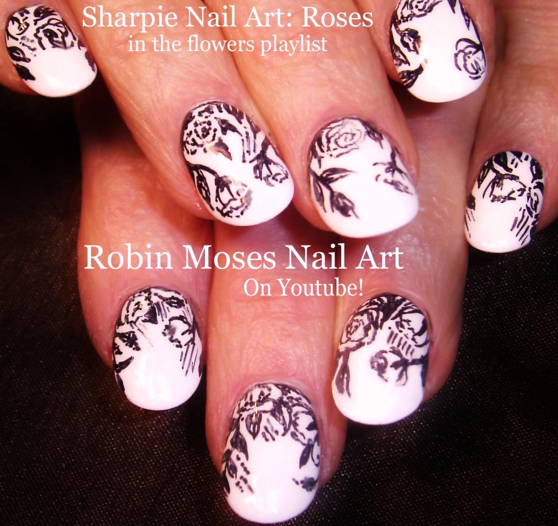 Robin Moses Nail Art: Black and White Nail HACK! Sharpie ...