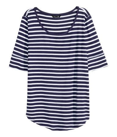 Spring/Summer Capsule Wardrobe: Five Tops for Work from Honey and Smoke Studio // Jersey Top in dark blue/striped from H&M