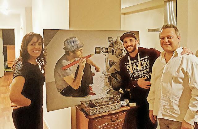 Fadila Laanan et l'artiste Ben Heine