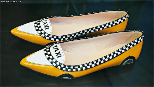 Zapatos con el Diseño de los Taxis de Nueva York