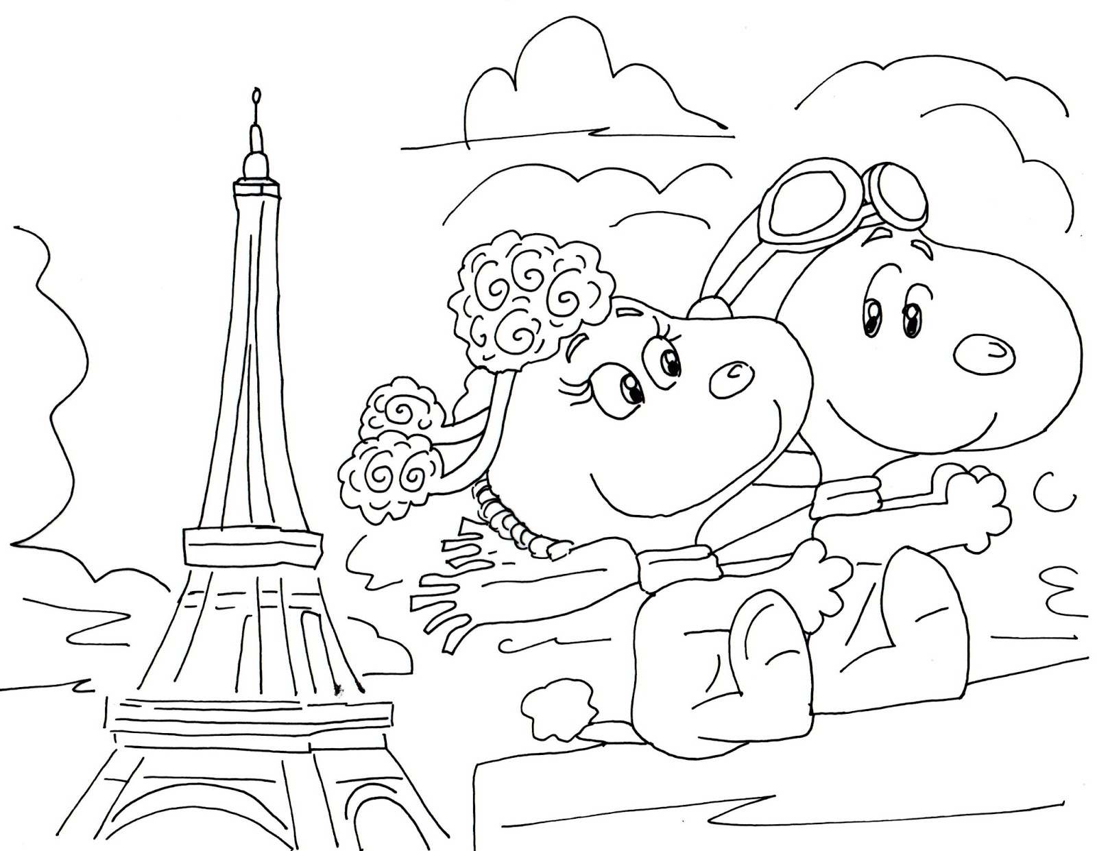 Free Charlie Brown Snoopy and Peanuts Coloring Pages: Fifi ...