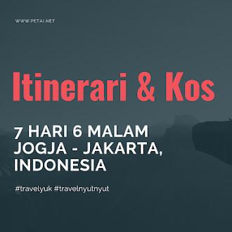 Kos & Itinerari Percutian 7 Hari 6 Malam Ke Jogjakarta-Jakarta, Indonesia