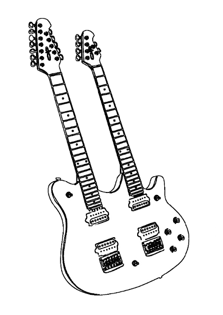 Gambar Mewarnai Gitar - 5