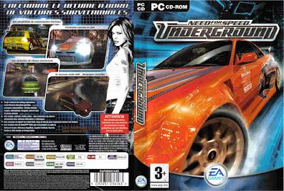 Jogo Need For Speed Underground PS2 DVD Capa