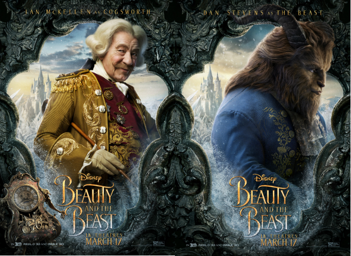 "Ian McKellen and Dan Stevens in ""Beauty and the Beast"""