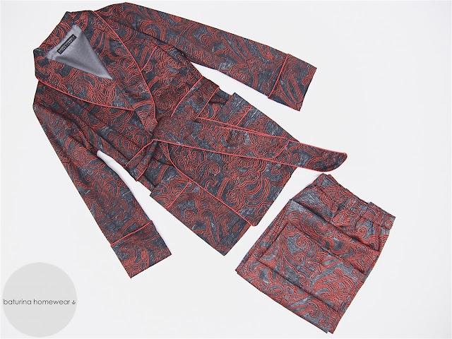 mens robe with pants pajamas smoking jacket dressing gown pajama set for men classic pyjama trousers long warm paisley cotton pyjamas