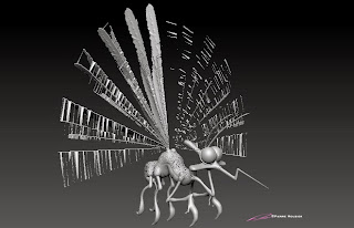 """Jurrassic Mosquito"" - Character design & 3D model - ©Pierre Rouzier"