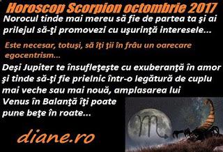 Horoscop octombrie 2017 Scorpion