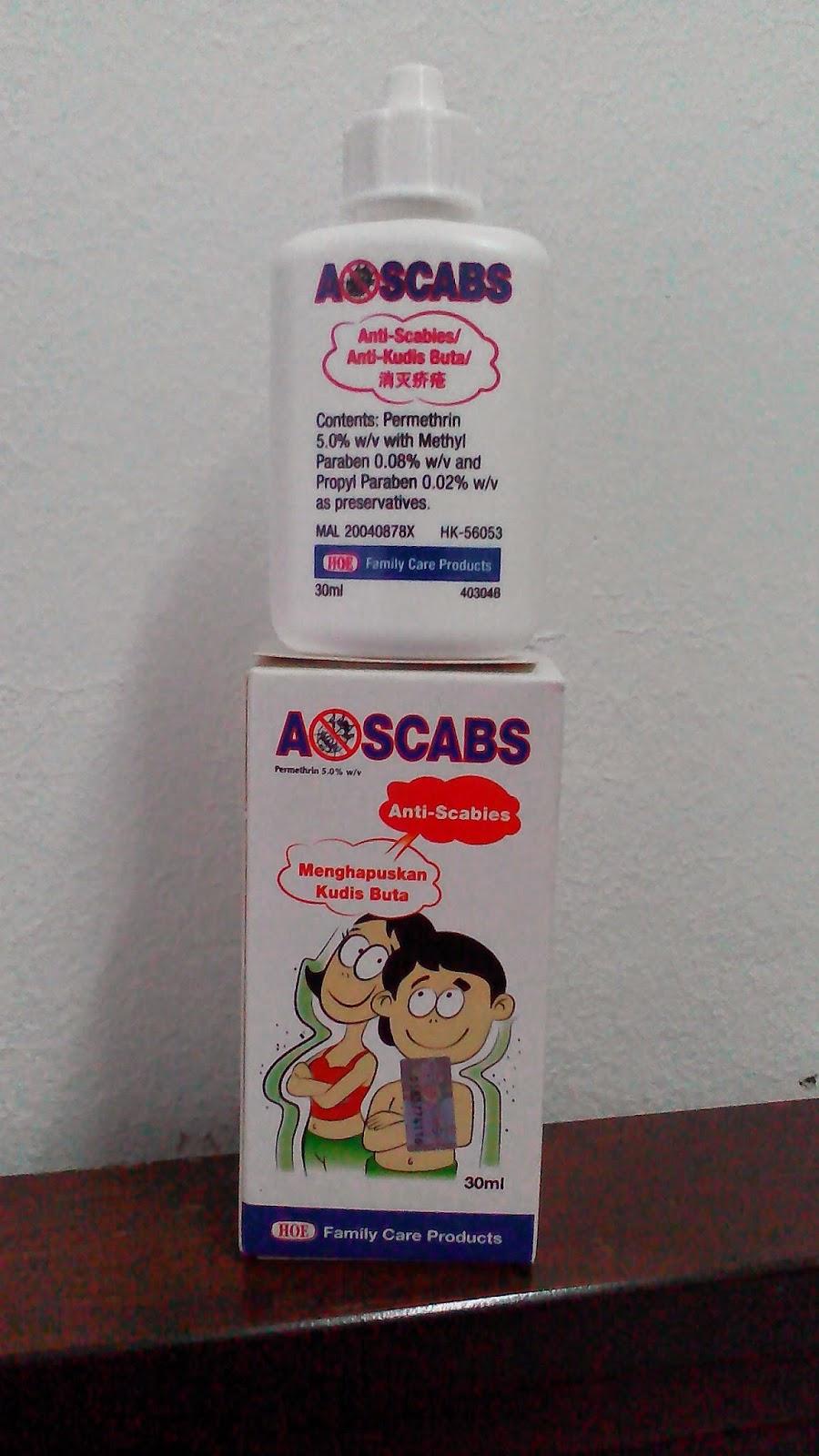 Lotion Kudis Buta atau Anti-Scabies Brand Aoscabs http://click4sihat.blogspot.com/