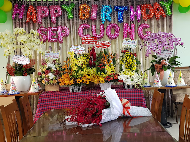 CBNV Công ty Thép Bắc Việt  chúc mừng sinh nhật Sếp Cường