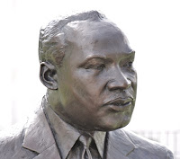Martin Luther King Statute - Head detail