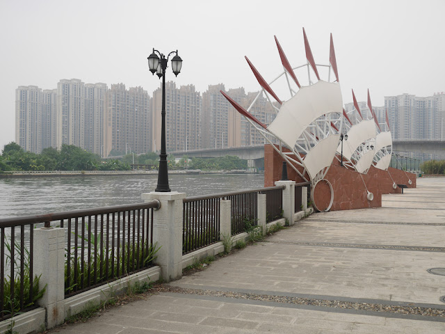riverside sculptures at the Dragon Boat Cultural Park (龙舟文化公园)