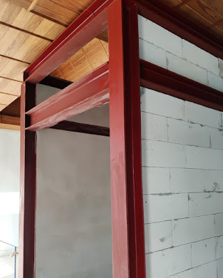 Isaan House Building Steel Support Beams