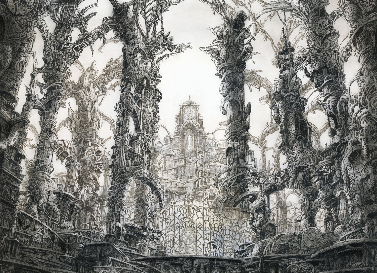 12-Column-Jungle-Mita-Mitauzo-実-田-く-ら-Intricate-Japanese-Architectural-Drawings-www-designstack-co