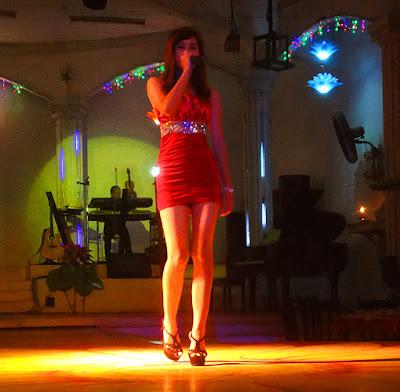 Karaoke in Yangon singing at Power Light