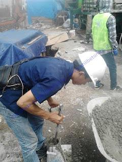 Pada pekerjaan ini penggunaan Conplast WP 421 sebanyak 2 liter / m3
