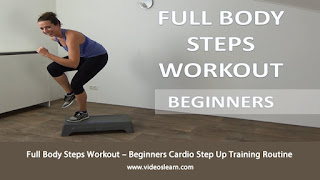 Full Body Steps Workout – Beginners Cardio Step Up Training Routine