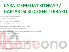 Cara Membuat Sitemap atau Daftar Isi Blogger Terbaru