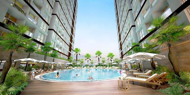 bể bơi 4 mùa tại dự án 378 Minh Khai