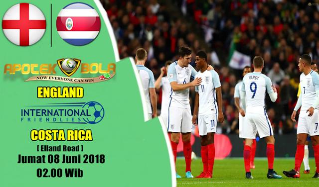 Prediksi England vs Costa Rica 8 Juni 2018