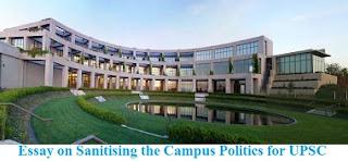 Essay on Sanitising the Campus Politics