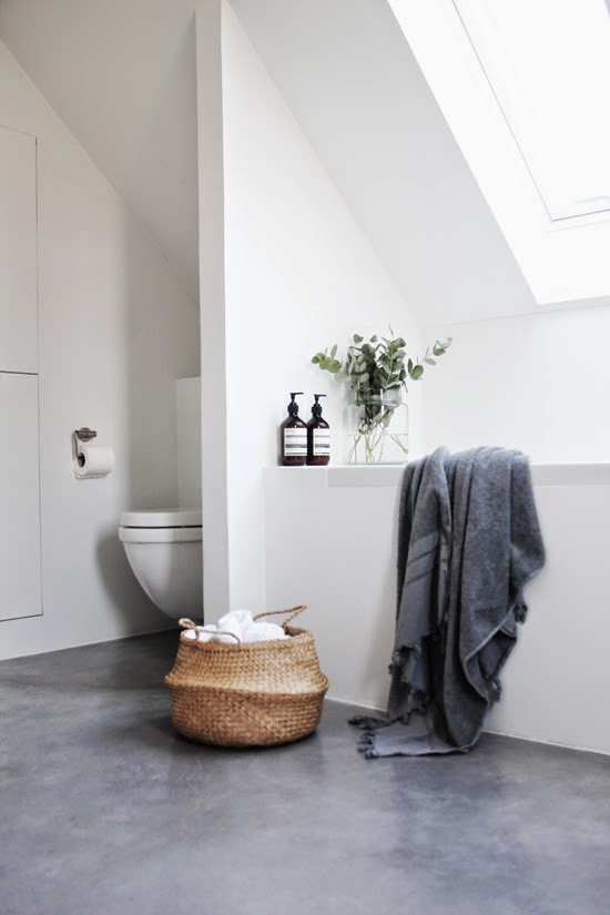betongulv badeværelse LEI LIVING by Louise E.: Betongulv på badeværelset betongulv badeværelse