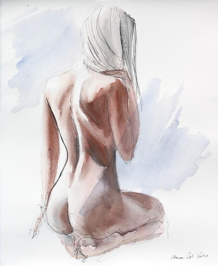 Художник-акварелист. Aimee del Valle