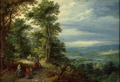 """Edge of the Forest (The Flight  Into Egypt)"" by Jan Brueghel the Elder"