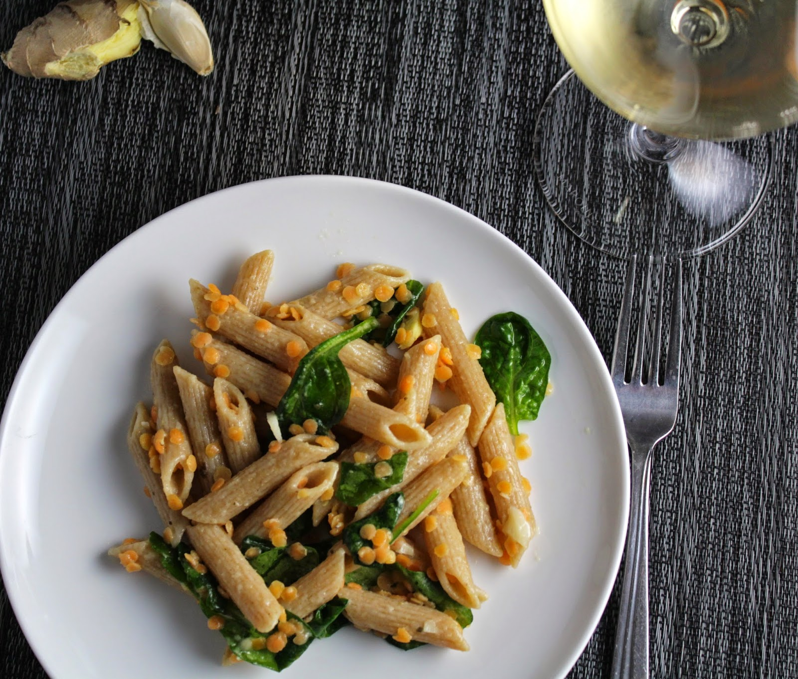 Penne with Red Lentils and Ginger. Cooking Chat recipe.