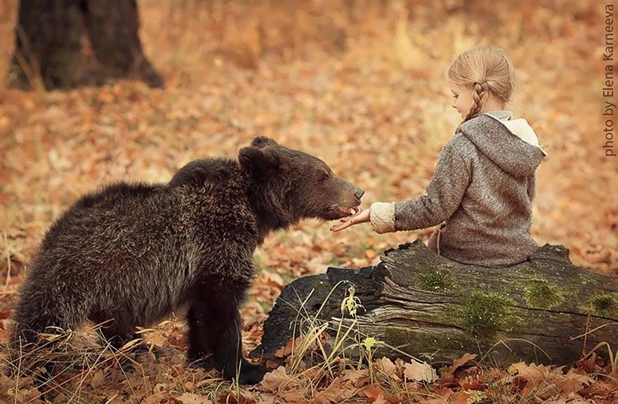 children and animal playing elena karneeva-7