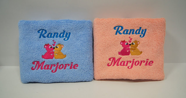 Personalized Towel with name embroidery by That Corner Shop