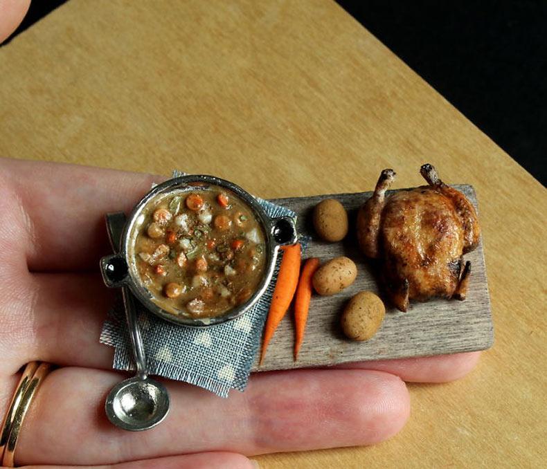 La comida en miniatura que cabe en la yema del dedo
