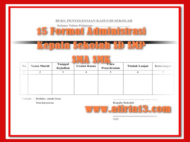Contoh 15 Format Administrasi Kepala Sekolah Sd Smp Sma Smk Format Words Docsekolah Kita