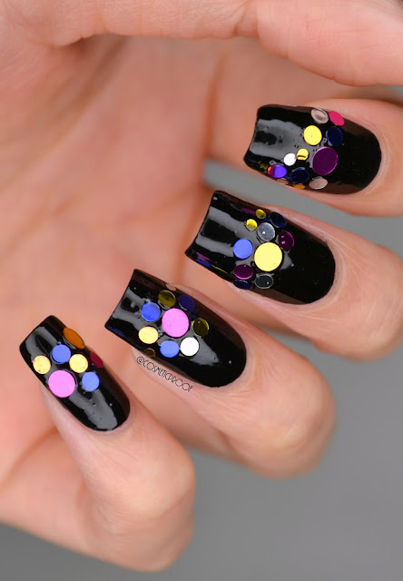 Duri Black Caviar Metallic Stud Nail Art