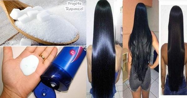 açúcar no shampoo para crescer cabelo