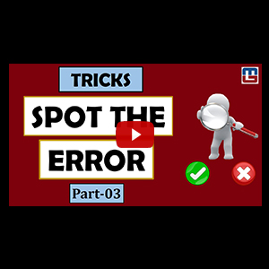 Tricks To Spot The Error | Part 3 | English | All Competitive Exams
