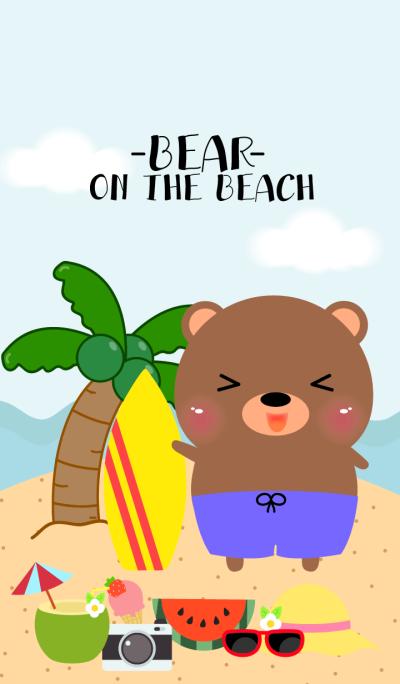 Bear on the beach Theme