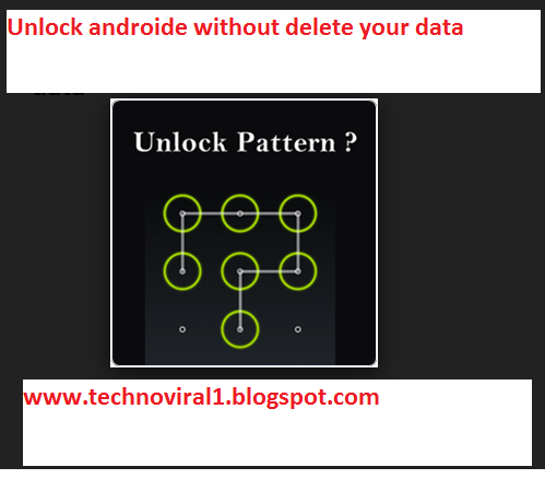 Unlock Mobile Pattern without Loosing Data of your Phone
