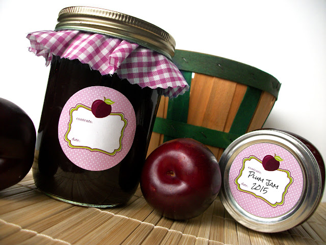 Cute Plum Mason Jar Labels