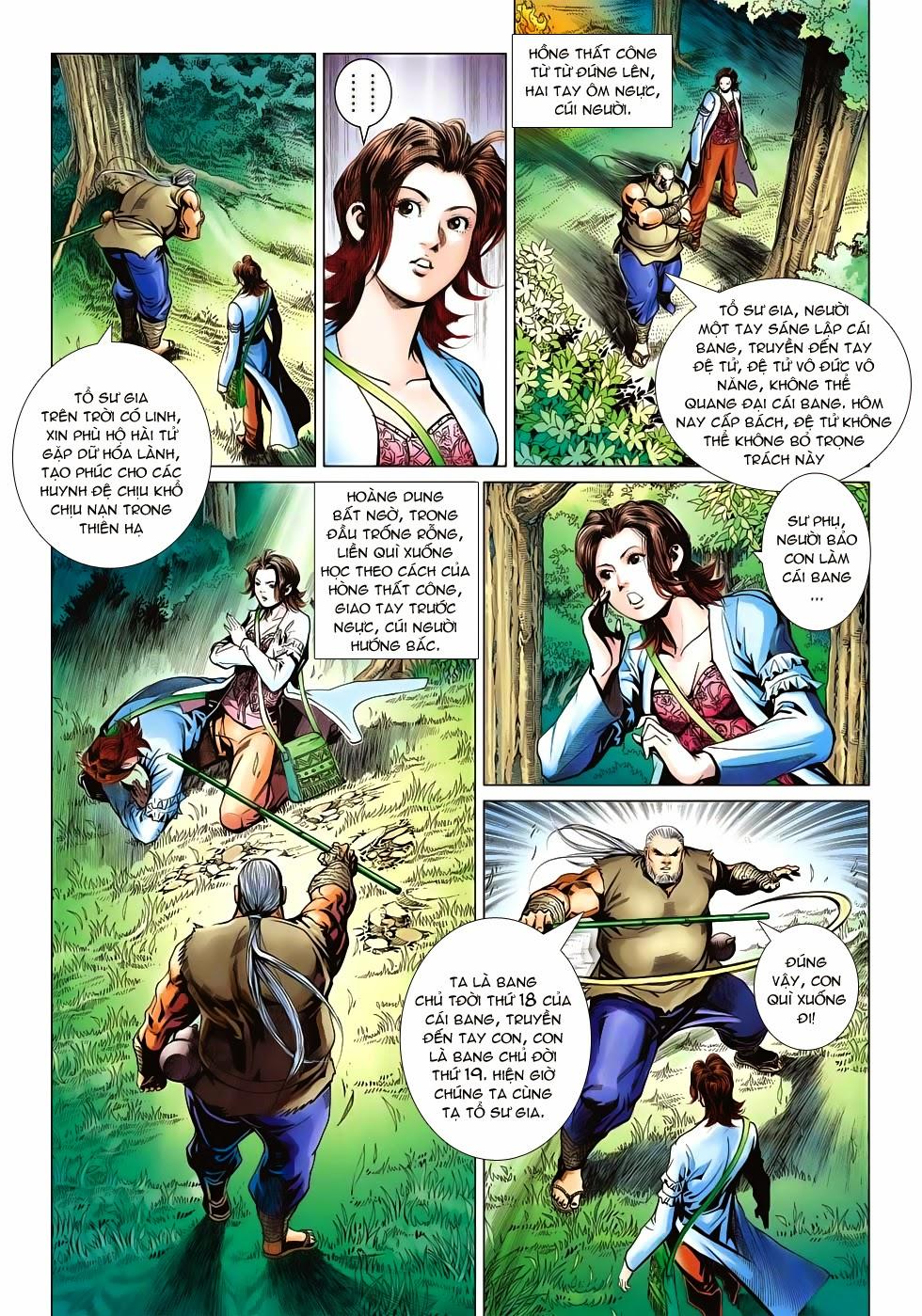 Anh Hùng Xạ Điêu anh hùng xạ đêu chap 53: lâm nguy thụ mệnh đả cẩu học pháp trang 30